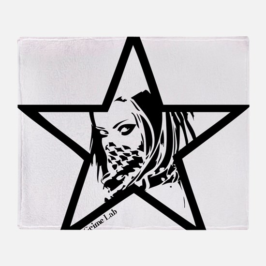 Pin Up Star Throw Blanket