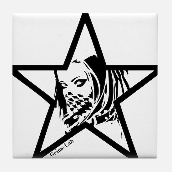 Pin Up Star Tile Coaster