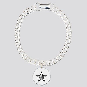 Pin Up Star Charm Bracelet, One Charm