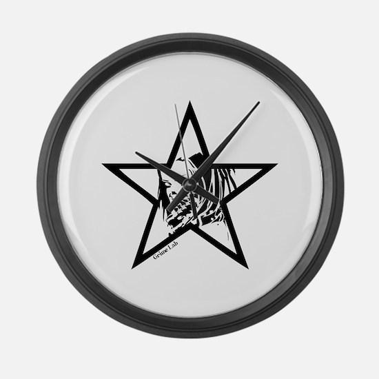 Pin Up Star Large Wall Clock