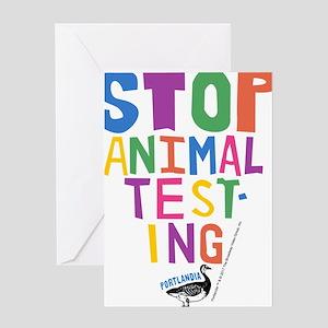 Portlandia Animal Testing Greeting Cards