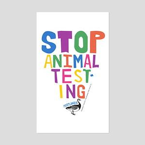 Portlandia Animal Testing Sticker