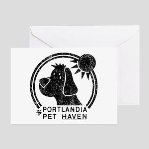 Portlandia Pet Haven Greeting Cards