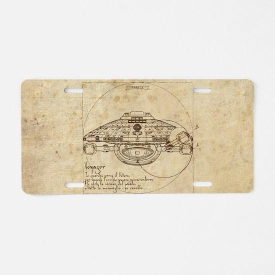 Vitruvian Voyager Aluminum License Plate