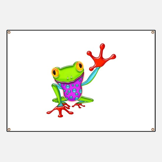 Waving Poison Dart Frog Banner