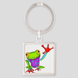 Waving Poison Dart Frog Keychains