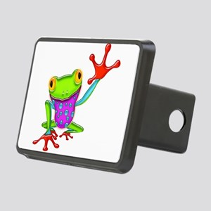 Waving Poison Dart Frog Rectangular Hitch Cover