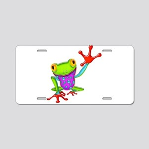 Waving Poison Dart Frog Aluminum License Plate