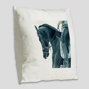 Friesian X 2 Burlap Throw Pillow