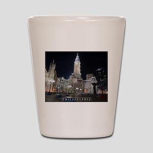 Philadelphia - City Hall. Shot Glass