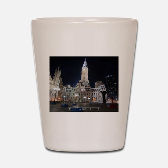 Philadelphia - City Hall. Shot Glass
