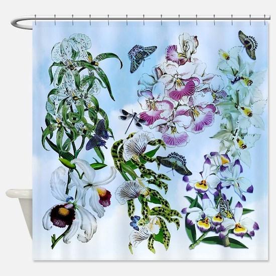 Dazzlin' Orchid, B'fly Drama Shower Curtain