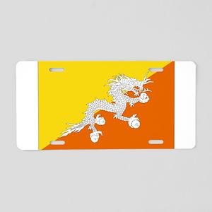 Bhutanese flag Aluminum License Plate