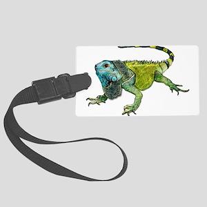 Gorgeous Green Iguana Large Luggage Tag