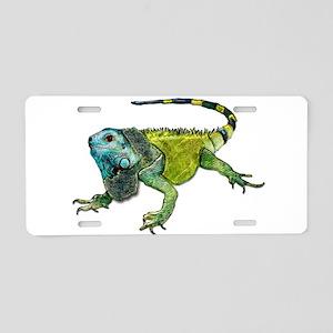 Gorgeous Green Iguana Aluminum License Plate