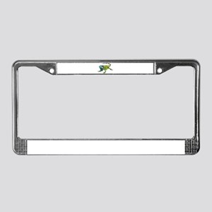 Gorgeous Green Iguana License Plate Frame
