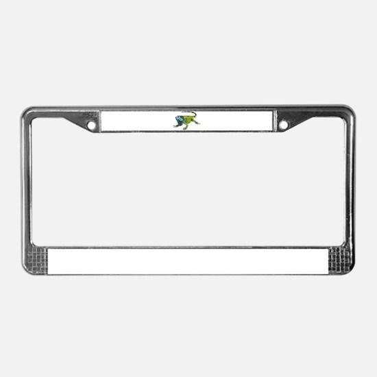 Gorgeous Green Iguana License Plate Frame