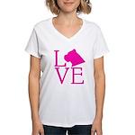 Cane Corso Love Women's V-Neck T-Shirt