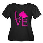 Cane Cor Women's Plus Size Scoop Neck Dark T-Shirt