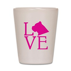Cane Corso Love Shot Glass