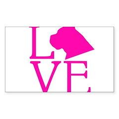 Cane Corso Love Sticker (Rectangle)