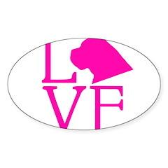 Cane Corso Love Sticker (Oval)