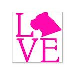 Cane Corso Love Square Sticker 3