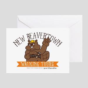 New Beavertown Walking Tours Portlandia Greeting C