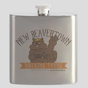 New Beavertown Walking Tours Portlandia Flask