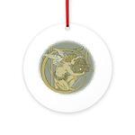 Art Nouveau Angel Art Pendant - Ornament