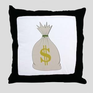 Money Bag Throw Pillow