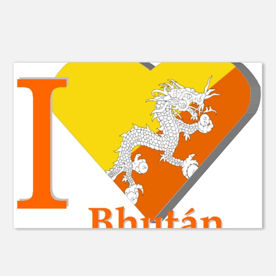 I love Bhutan Postcards (Package of 8)