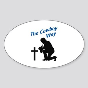 THE COWBOY WAY Sticker