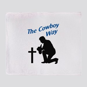 THE COWBOY WAY Throw Blanket