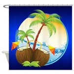 Tropical Coconuts Shower Curtain