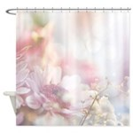 Dreamy Pink Floral Shower Curtain