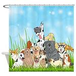 Dog Groomer Cute Dogs Shower Curtain