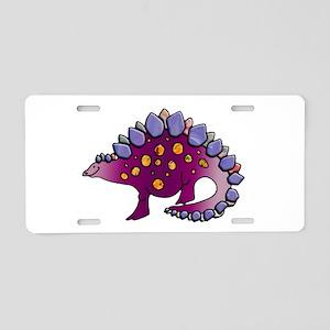 Amethyst Purple Dinosaur Aluminum License Plate