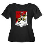 3RD SQUA Women's Plus Size Scoop Neck Dark T-Shirt