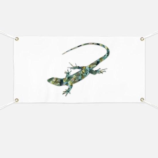 Mosaic Polygon Green Lizard Banner