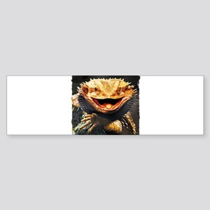 Grotesque Bearded Dragon Lizard Bumper Sticker