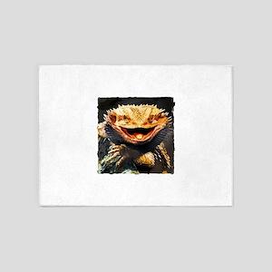 Grotesque Bearded Dragon Lizard 5'x7'Area Rug