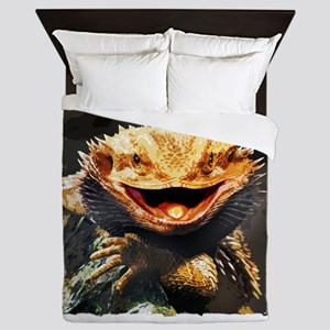 Grotesque Bearded Dragon Lizard Queen Duvet