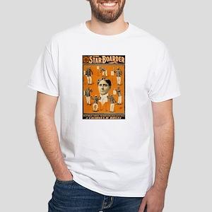 STAR BOARDER white t-shirt