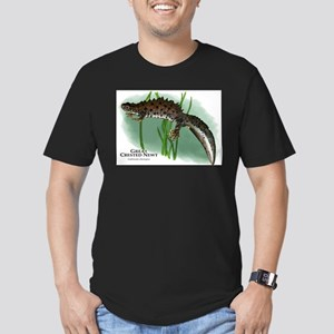 Great Crested Newt Men's Fitted T-Shirt (dark)