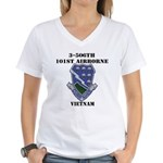 3-506TH CURRAHEE Women's V-Neck T-Shirt