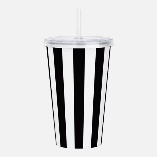 With A Pink Stripe Acrylic Double-wall Tumbler