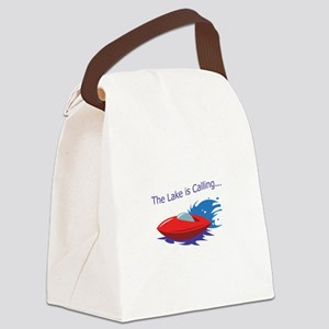 THE LAKE IS CALLING Canvas Lunch Bag