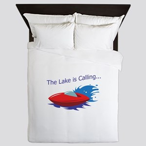 THE LAKE IS CALLING Queen Duvet