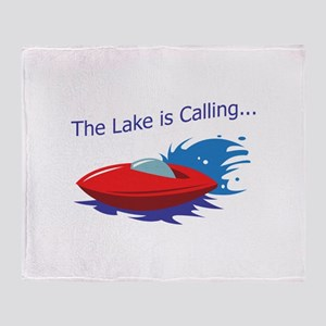 THE LAKE IS CALLING Throw Blanket